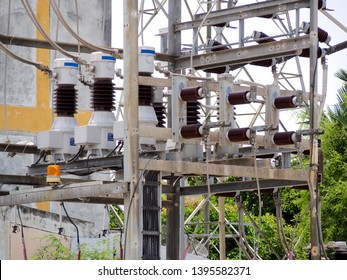 The equipment used to high voltage substation