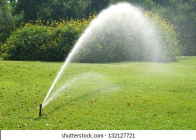 equipment of water in park