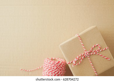 equipment for wrapping and blank space for note, delivery concept background