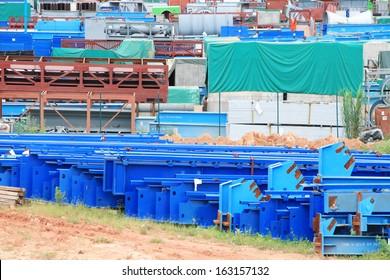 Equipments stock yard of power plant.