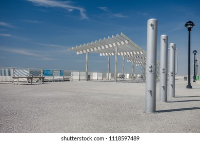 equipping beach the coastline awnings for shade and rest