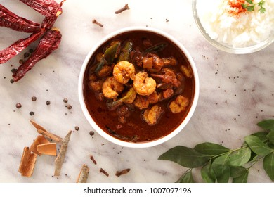 Eral kuzhambu is one of the mouth-watering prawn curry in chettinad style. Tasty, flavourful, simple prawn curry goes well with steamed rice.