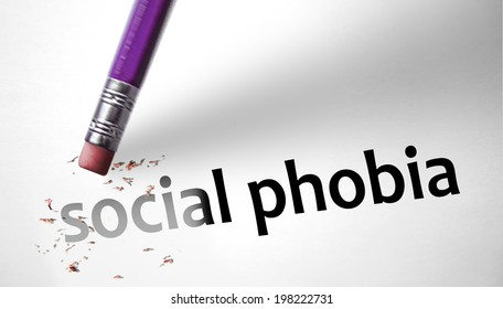 Eraser deleting the concept Social Phobia