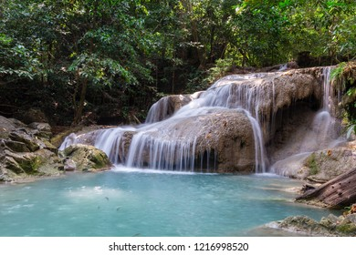 Erawan waterfall is beautiful in Thailand