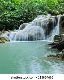 Erawan waterfall in Kanchaburi, Thailand
