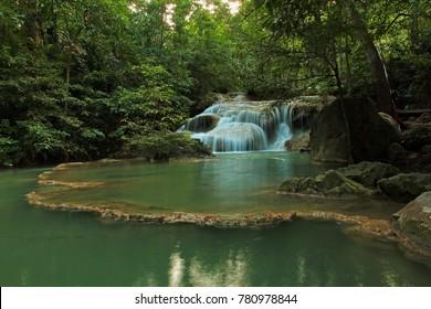 Erawan Waterfall Kanchanaburi thailand