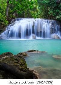 Erawan waterfall National Park Kanjanaburi Thailand