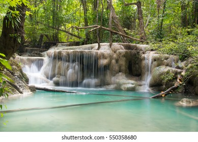 erawan waterfall in thailand