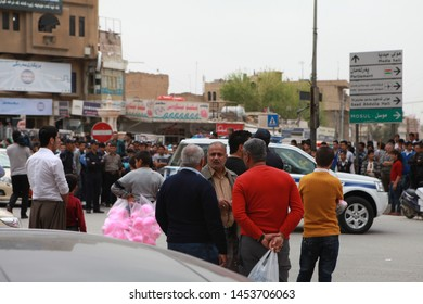 Erbil, Iraq- The square where the castle of Erbil is among the most visited by local and foreign tourists. March 16, 2013.