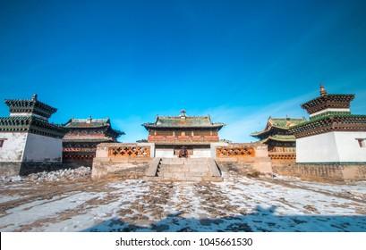 Erdene Zuu Monastery in Karakorum, ancient capital of Mongolia