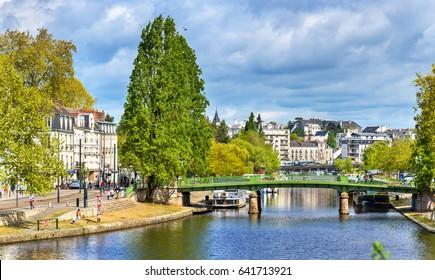 The Erdre River in Nantes - France, Loire-Atlantique
