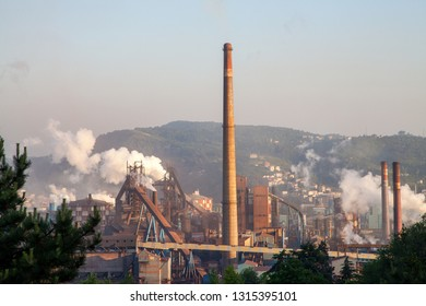 Eregli, Zonguldak / Turkey - 05/20/2013:  A view from the production process at Ereğli Iron and Steel Factory.