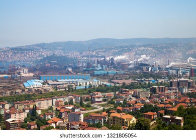 Eregli,Zonguldak/Turkey : 24/06/2013 : A view from the production process at Ereğli Iron and Steel Factory.