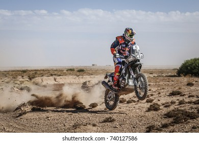 Erfoud, Morocco. October 9, 2017. Oilibya Cross-Country Rally of Morocco, preparation to Dakar 2018. Matthias Walkner, KTM.