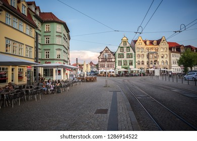 ERFURT, GERMANY - CIRCA MARCH, 2018: The Domplatz of Erfurt town in Germany