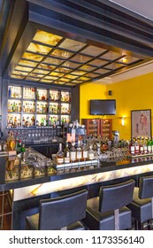 ERFURT, GERMANY - MAY 27, 2012: famous bar at luxury hotel elephant  in Erfurt, Germany. The hotel was rebuilt in 1937 by Hermann Giesler, Last complete renovation 1993.