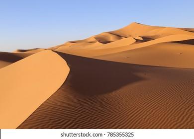 Erg Chebbi, Sahara desert, Morocco.