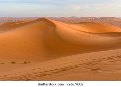 Erg Chebbi Sand dunes in the morning. Sahara Desert near Merzouga, Morocco
