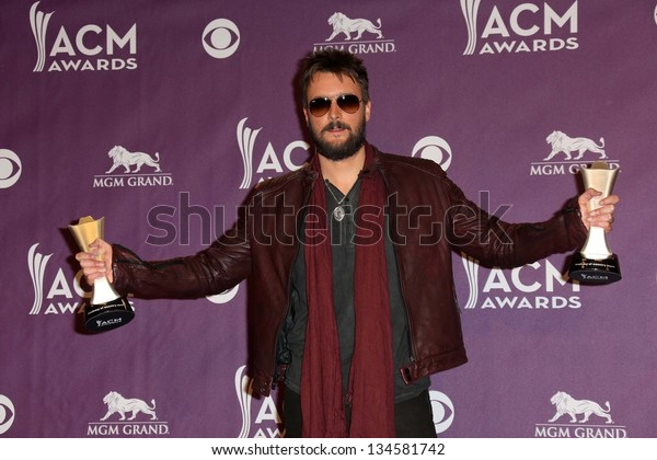 Eric Church at the 48th Annual Academy Of Country Music Awards Press Room, MGM Grand Garden Arena, Las Vegas, NV 04-07-13