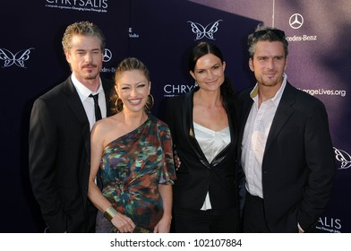 Eric Dane, Rebecca Gayheart, Balthazar Getty  at the 9th Annual Chrysalis Butterfly Ball, Private Location, Beverly Hills, CA. 06-05-10