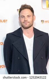 Eric Gable attends INFOList.com Red Carpet Re-Launch Party & Holiday Extravaganza! at SKYBAR at the Mondrian Hotel, Los Angeles, California on December 5th, 2018