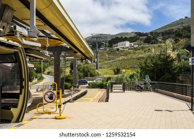Erice Cable Car station, Trapani, Sicily, Italy