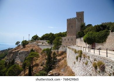 Erice, Italy. Fortification of the castle of Balio, XVII century
