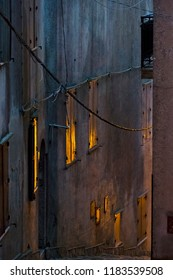 Erice, Trapani - Sicily, Italy: Erice is an ancient medieval village near Trapani whose foundation dates back to the Phoenicians. An alley in the evening.