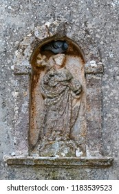 Erice, Trapani - Sicily, Italy: Erice is an ancient medieval village near Trapani whose foundation dates back to the Phoenicians. Saint Anthony with pigeon.