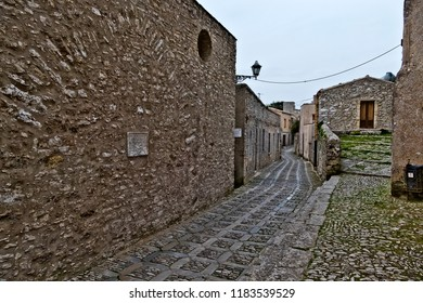Erice, Trapani - Sicily, Italy: Erice is an ancient medieval village near Trapani whose foundation dates back to the Phoenicians.