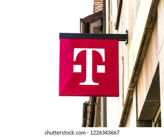 Erlangen, GERMANY, SEP 15, 2018: T-Mobile is the brand name used by the mobile communications subsidiaries of the German telecommunications company Deutsche Telekom.