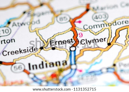 Pennsylvania In Usa Map.Ernest Pennsylvania Usa On Map Stock Photo Edit Now 1131352715
