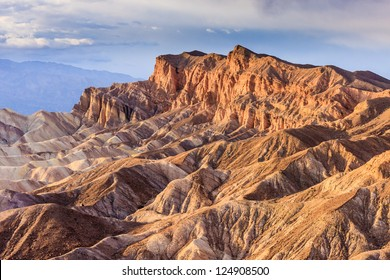 Eroded Mountain Ridges at Zabriskie Point, Death Valley National Park, California, USA