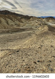 Eroded stones and ridges, badland, Death Valley National Park, California, USA