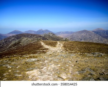 Eroding Path on Slieve Binnian, Mourne Mountains, County Down, Northern Ireland.