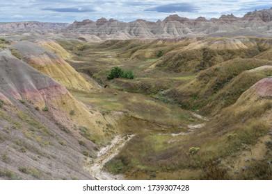 Roches en érosion dans le parc national du Badlands, Dakota du Sud - États-Unis
