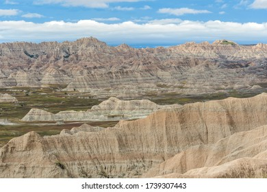 Eroding rocks in Badlands National Park, South Dakota - USA