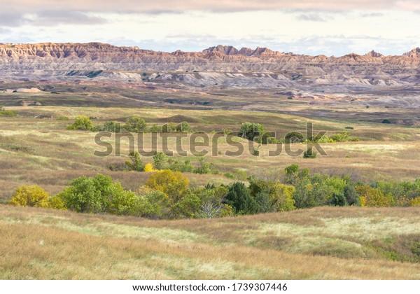 Eroding rocks in Badlands National Park, South Dakota - USA