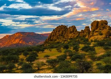 Erongo mountains in Namibia