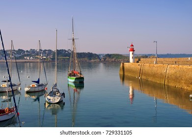 Erquy harbour in Brittany, France