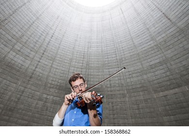 The Errie Violin in the Cooling Tower