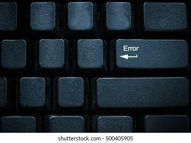 Error button on computer keyboard