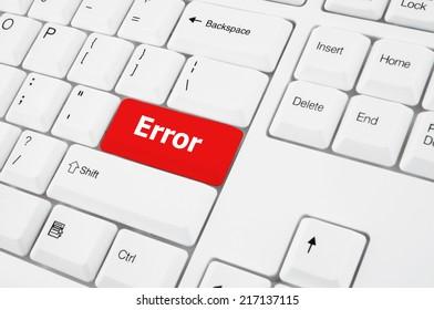 Error keyboard button