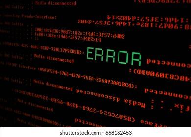error screen ,