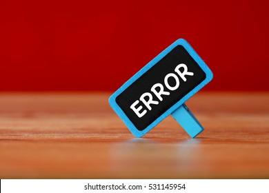 Error, Technology Concept