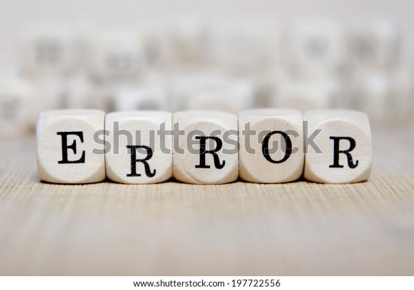 error word concept