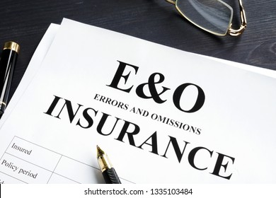 Errors and omissions insurance E&O form. Professional liability.