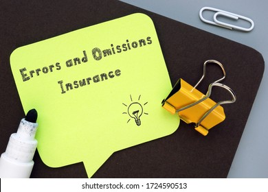 Errors and Omissions Insurance E&O  sign on the piece of paper.
