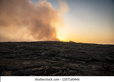 Erta Ale volcano on the sunrise, Ethiopia