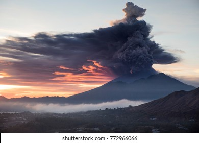 eruption of mount agung bali